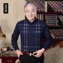 T-shirt Fashion City routine 165/S 170/M 175/L 180/XL Fasidi Long sleeves Lapel easy Other leisure autumn Polyester 85.3% cotton 14.7% old age routine Autumn of 2019 pocket