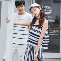 T-shirt 6219 stripe 6236 black 6280 white 6256 green 6299 white 7246 white Female s / 155 female M / 160 female L / 165 female XL / 170 male M / 170 male L / 175 male XL / 180 male XXL / 185 Summer 2020 Short sleeve easy Regular routine other 96% and above 18-24 years old Ensun  E6219 Other 100%