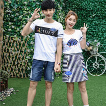 T-shirt Female s / 155 female M / 160 female L / 165 female XL / 170 male M / 170 male L / 175 male XL / 180 male XXL / 185 Summer 2020 Short sleeve easy Regular routine other 96% and above 18-24 years old Ensun  Other 100% Pure e-commerce (online only)