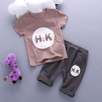 suit foot&cool 90cm 100cm 110cm 120cm 80CM neutral summer leisure time Short sleeve + pants 2 pieces routine No model Socket nothing other cotton birthday HHHKK Class A Cotton 95% other 5% 3 months 6 months 12 months 9 months 18 months 2 years 3 years 4 years 5 years old