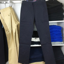 Casual pants POLO RALPH LAUREN Fashion City Black, Navy, khaki 29,30,31,32,33,34,35,36,38,40 thin trousers go to work Self cultivation Micro bomb autumn middle age Business Casual 2020 middle-waisted Straight cylinder Overalls Pocket decoration washing Solid color plain cloth cotton cotton
