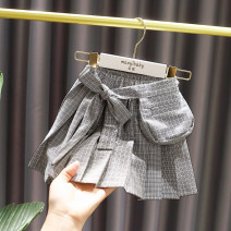 skirt 80 ා recommended height: 66-75cm; 90 ා recommended height: About 80cm; 100 ා recommended height: 90CM; 110 ා recommended height: 100cm; 120 ා recommended height: 110cm grey Other / other female Cotton 90% polyurethane elastic fiber (spandex) 10% spring and autumn skirt Britain lattice Pleats