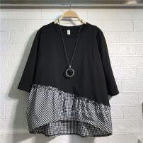 T-shirt Black medium sleeve, pink short sleeve, light blue short sleeve, black short sleeve Large size Short sleeve easy other 86% (inclusive) -95% (inclusive)