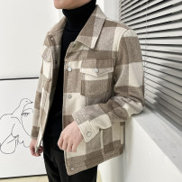 Jacket Other / other Youth fashion M,L,XL,2XL routine Self cultivation Other leisure autumn Long sleeves Wear out Lapel Exquisite Korean style youth routine Single breasted Cloth hem No iron treatment lattice Side seam pocket