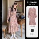 Women's large puff sleeve other Short sleeve 7-21C5163-A-3 Condom other Medium and long term 18-24 years old Sinani Polyester 100% Pure e-commerce (online sales only) solar system Autumn 2020 Dress singleton  Sweet easy moderate