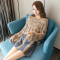 Dress Winter of 2018 S M L XL Short skirt Two piece set Long sleeves commute One word collar High waist Solid color Socket pagoda sleeve Others 25-29 years old Audubon / Audubon Korean version More than 95% knitting other Other 100% Pure e-commerce (online only)