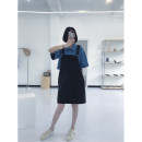 Dress Spring 2021 Old blue, carbon black Average size More than 95% cotton