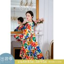 Nightdress Other / other printing S, M luxurious Long sleeves pajamas longuette spring other youth Small lapel Polyester (polyester) More than 95% A22196725