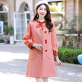 woolen coat Autumn of 2019 M L XL XXL XXXL polyester 95% and above Medium length Long sleeves commute Single breasted routine Half high collar Solid color Self cultivation Korean version Meng Jia Xian Yi Three dimensional decoration 3D Polyester 100% Pure e-commerce (online only)