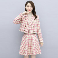 Fashion suit Autumn 2020 M L XL XXL XXXL Off white pink 25-35 years old Meng Jia Xian Yi MJQY20X-0904-10 Polyester 100% Exclusive payment of tmall