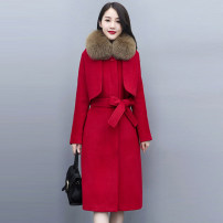 Dress / evening wear Weddings, adulthood parties, company annual meetings, daily appointments M L XL XXL Black scarlet Khaki Korean version Medium length middle-waisted Autumn 2020 Self cultivation MJQY20X-1012-01 Long sleeves Solid color Meng Jia Xian Yi routine Polyester 100%