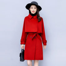 Dress / evening wear Weddings, adulthood parties, company annual meetings, daily appointments S M L XL XXL Black rust red fashion Medium length middle-waisted Winter 2020 A-line skirt MJQY20X-0924-01 Long sleeves Solid color Meng Jia Xian Yi routine Polyester 100% Exclusive payment of tmall