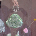Bag Inclined shoulder bag ABS Small round bun Other / other Green three flower bag, green three flower bag + 30cm bead chain, green three flower bag + 100cm bead chain, apricot three flower bag, apricot three flower bag + 30cm bead chain, apricot three flower bag + 100cm bead chain brand new Retro no