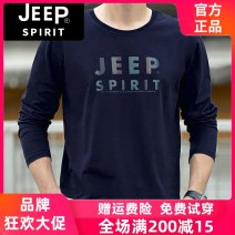 T-shirt Business gentleman thin M / 170 [recommended 105-135 kg], L / 175 [recommended 135-155 kg], XL / 180 [recommended 155-175 kg], 2XL / 185 [recommended 170-185 kg], 3XL / 190 [recommended 185-200 kg] Jeep / Jeep Long sleeves Crew neck easy Other leisure Four seasons Large size routine gilding