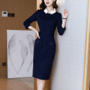 Women's large Spring 2021 Picture color S M L XL 3XL Dress singleton  commute Polo collar 21118-29 Xinzhiyao 30-34 years old 96% and above longuette Other 100% Exclusive payment of tmall other