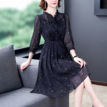 Women's large Summer 2020 Navy (8373) Navy (8386) S M L XL 2XL 3XL Dress easy Socket Crew neck 2-14 Xinzhiyao 35-39 years old 96% and above Other 100% Exclusive payment of tmall other