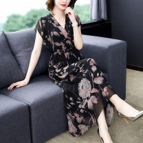 Women's large Spring 2021 Decor M L XL 2XL 3XL Dress singleton  commute Socket V-neck Xinzhiyao 35-39 years old 96% and above Medium length Other 100% Exclusive payment of tmall other
