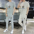 Leisure sports suit summer M,L,XL,2XL,3XL,4XL Short sleeve Other / other trousers teenagers T-shirt 2021