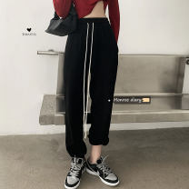 Casual pants Gray, black S, M Autumn 2020 trousers Straight pants High waist commute 18-24 years old 30% and below Korean version