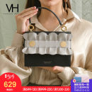 Bag Inclined shoulder bag cowhide Saddle bag VANESSA HOGAN black brand new European and American fashion Small leisure time soft Magnetic buckle no Solid color Single root One shoulder portable messenger nothing youth Saddle shape Sewing Handling handle Textile VH1806171020305 Spring / summer 2018