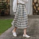 skirt Summer 2020 S,M,L Taro mud Bobo, Wizard of Oz Mid length dress Versatile High waist A-line skirt lattice 18-24 years old 31% (inclusive) - 50% (inclusive)