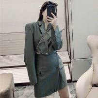 Fashion suit Autumn 2020 S, M Green, black 18-25 years old