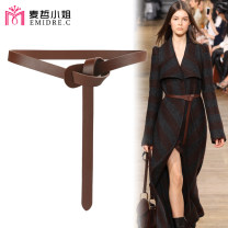 Belt / belt / chain Double skin leather female belt Versatile Single loop Young and middle aged Glossy surface soft surface 1.8cm alone Emidre. C / Ms. Maizhe DL1183-2 Autumn 2020