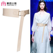 Belt / belt / chain Pu (artificial leather) Brown red BEIGE BLACK female Waistband Simplicity Single loop Young and middle aged Smooth button Round buckle Glossy surface 7cm alloy alone Emidre. C / Ms. Maizhe DL1199 Autumn and winter 2018