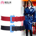 Belt / belt / chain Pu (artificial leather) female belt Simplicity Single loop Young and middle aged Pin buckle Leather decoration Glossy surface 4cm alloy alone Emidre. C / Ms. Maizhe Summer of 2019