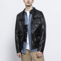 Jacket MAX HUNG Fashion City black 4XL 5XL 6XL 2XL 3XL routine Self cultivation Other leisure spring Other 100% Long sleeves Wear out Large size PU leather Summer 2020 Pure e-commerce (online only)