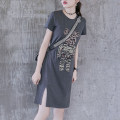 Dress Summer 2021 Middle-skirt Short sleeve singleton  commute Cartoon animation Crew neck High waist 25-29 years old routine More than 95% other OMD-503-640634535152 Korean version Omedo Other 100% Pure e-commerce (online sales only) M L XL 2XL