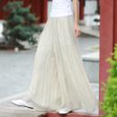 Casual pants S,M,L Spring 2020 trousers Wide leg pants Natural waist Versatile routine 91% (inclusive) - 95% (inclusive) hemp hemp Asymmetry