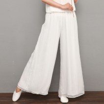 Casual pants White, red, purple, blue, beige, size suggestion XS,S,M,L Spring 2020 trousers Flared trousers Natural waist original Thin money 30-34 years old 81% (inclusive) - 90% (inclusive) Dancing among the clouds other polyester fiber