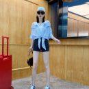 shirt Light blue, pink S,M,L Summer 2020 other 81% (inclusive) - 90% (inclusive) Short sleeve Original design Regular stripe 07121020# cotton
