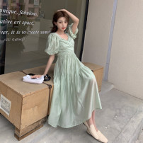 Dress Summer 2021 green S,M,L,XL 25-29 years old
