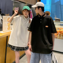 Polo shirt Other / other Youth fashion routine Black, white, grey S. M, l, XL, 2XL, XS plus small easy Other leisure summer Short sleeve tide routine teenagers 2021