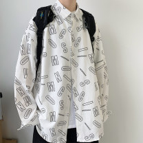 shirt Youth fashion Others S. M, l, XL, 2XL, XS plus small White, black, green routine Pointed collar (regular) Long sleeves easy Other leisure Four seasons teenagers Cotton 100% like a breath of fresh air 2021 cotton 90% (inclusive) - 95% (inclusive)