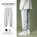 Casual pants Others Youth fashion Gray, black S. M, l, XL, 2XL, 3XL, XS plus small routine trousers Other leisure easy Micro bomb spring youth tide 2021 Medium low back Little feet Cotton 50% polyester 50% Sports pants No iron treatment other Terry cloth cotton Fashion brand