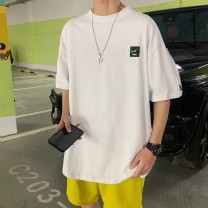 T-shirt Youth fashion White, black, yellow, red sleeves routine S. M, l, XL, 2XL, XS plus small Others elbow sleeve Crew neck easy Other leisure summer teenagers routine tide 2021 other printing
