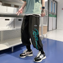 Casual pants Others Youth fashion Black, green S. M, l, XL, 2XL, 3XL, 4XL, 5XL, XS plus small Ninth pants Other leisure easy