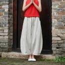 Casual pants Plain white, hemp, bean green, Tibetan blue Average size Summer 2020 Ninth pants Knickerbockers Natural waist commute routine 81% (inclusive) - 90% (inclusive) hemp Retro cotton