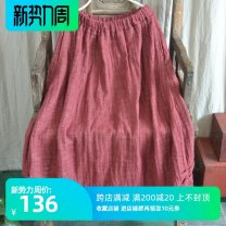 skirt Spring 2020 Average size Navy, crimson Short skirt Retro Natural waist Flower bud skirt Solid color Type A 25-29 years old 51% (inclusive) - 70% (inclusive) other Other / other hemp 301g / m ^ 2 (including) - 350g / m ^ 2 (including)