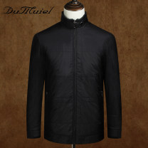 Down Jackets black DuMuiel White duck down 165/S 170/M 175/L 180/XL 185/XXL 190/XXXL Fashion City go to work routine routine 90% Wear out Hoodless stand collar Wear out middle age Below 100g (excluding) Business Casual Closing sleeve Polyester 100% Solid color Winter 2016