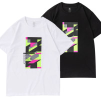 Sports T-shirt Anta S/165 M/170 L/175 XL/180 XXL/185 XXXL/190 4XL/195 Short sleeve male Crew neck Pure white-1 mysterious Green-2 basic black-4 routine nothing Summer 2020 Brand logo pattern offset printing Cotton polyester yes