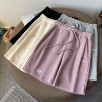Casual pants Black, gray M. L, XL, 2XL, wholesale price more than 500 pieces from 18 Summer 2021 shorts Haren pants Natural waist commute routine 18-24 years old 30% and below cotton Korean version pocket cotton