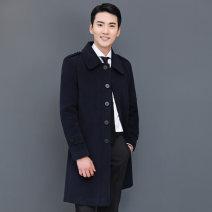 woolen coat 1806 Navy 1808 black 4XL L XL XXL XXXL Aimei Xinsi Business gentleman 39B-B54 Polyester 100% Winter of 2019 Medium length go to work Self cultivation Pure e-commerce (online only)