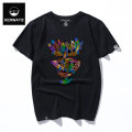 T-shirt Fashion City routine S M L XL 2XL 3XL 4XL 5XL 6XL KERWATS Short sleeve Crew neck easy Other leisure spring Cotton 95% polyurethane elastic fiber (spandex) 5% Large size routine tide Knitted fabric Spring of 2018 printing cotton Creative interest Fashion brand Pure e-commerce (online only)