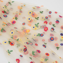 Fabric / fabric / handmade DIY fabric Netting Apricot half a meter, white half a meter, black half a meter, buy the same length and width, width is 1.3 meters Loose shear rice Plants and flowers Yarn dyed weaving clothing Japan and South Korea Chinese Mainland