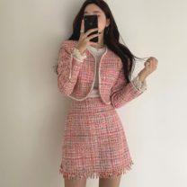Fashion suit Spring 2021 S, M Black coat, black skirt, pink coat, pink skirt, apricot coat, apricot skirt 18-25 years old 71% (inclusive) - 80% (inclusive)