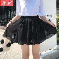 Casual pants S M L XL 2XL 3XL Summer 2020 shorts Wide leg pants Natural waist Tang women Polyester 98% other 2%
